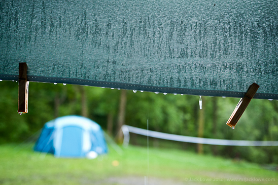 Camping in the rain, Dodgson Wood, Coniston Water, The Lake District