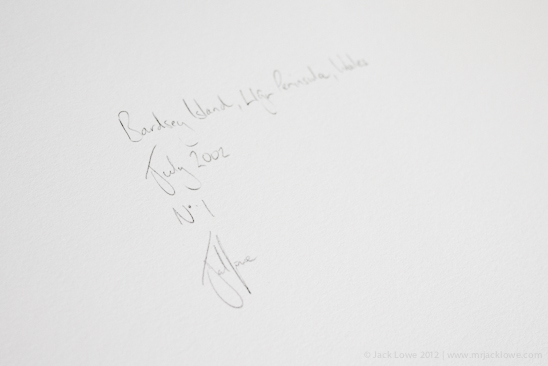 Bardsey Island Signed Print Jack Lowe