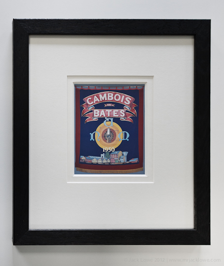 Framed Postcard of Cambois and Bates Miners' Banner