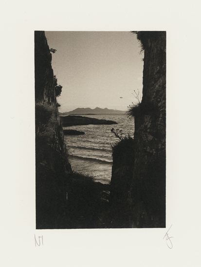 The Island of Rum from Camusdarach, Scotland, photographed by Jack Lowe