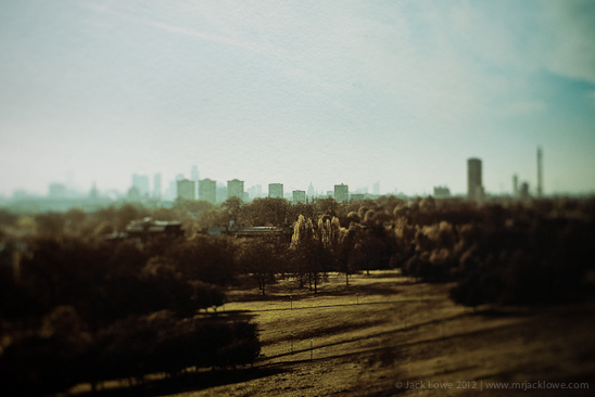 London from Primrose Hill, Photography by Jack Lowe