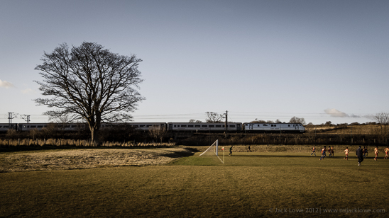 East Coast Mainline Train Passing Longhoughton