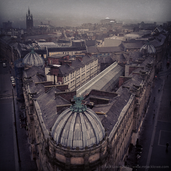 South West View from Grey's Monument, Newcastle upon Tyne, by Jack Lowe