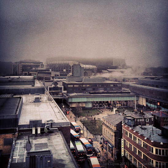 North view towards St. James' Park from Grey's Monument, Newcastle upon Tyne, by Jack Lowe
