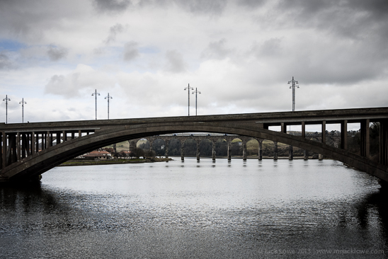 The Royal Tweed bridge over the River Tweed, joining Berwick upon Tweed with Tweedmouth