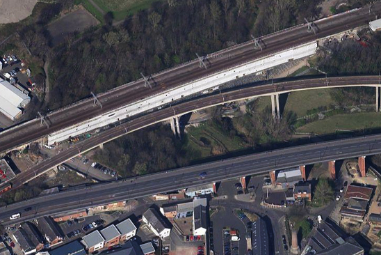 The Ouseburn Valley, Newcastle upon Tyne, Google Earth