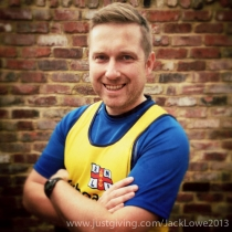 Jack Lowe running for the RNLI