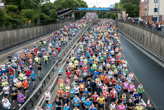 Great North Run 2013, Runners on Central Motorway