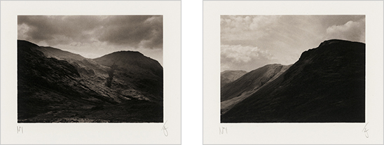Scafell Pike and Great Gable in the Lake District, UK, 2003, photographed by Jack Lowe