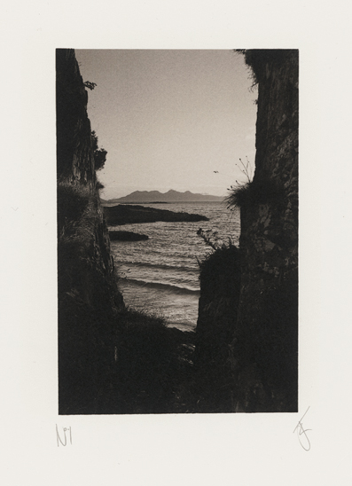 The Isle of Rum from Camusdarach, Scotland, photographed by Jack Lowe
