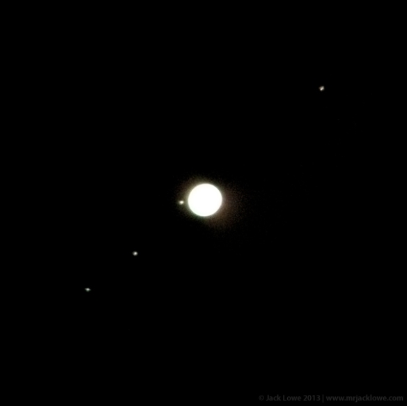 Jupiter and Four Moons, Kielder Observatory, Northumberland National Park