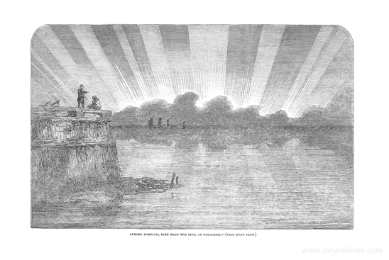Aurora Borealis, Great Solar Storm of 1859, Boulogne Pier, Northern Lights