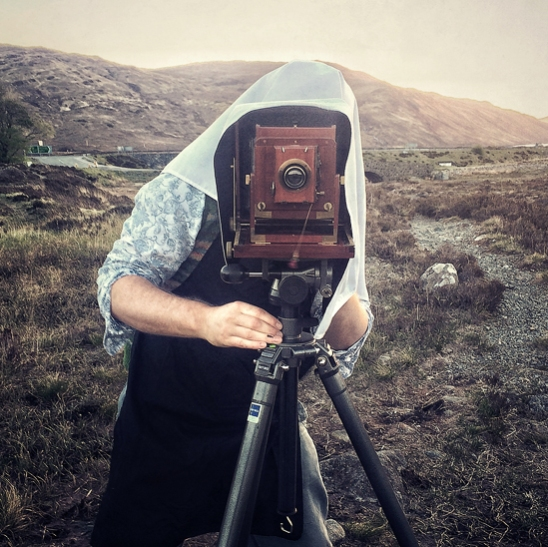 wet plate collodion process, half plate, ambrotype, large format