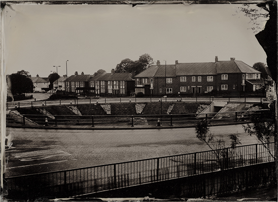 Cowgate Roundabout, Newcastle upon Tyne, shortly before its demolition.