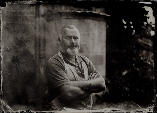 wet plate collodion, Half Plate Ambrotype by Jack Lowe