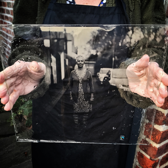 "10x12"" Ambrotype of Carole, Newcastle upon Tyne, 23rd November 2014"